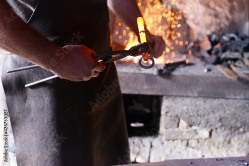 Photo outil et métal du forgeron