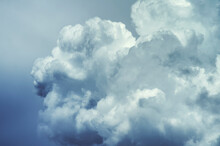 Large Clouds Against The Blue Sky