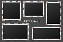 Realistic Vintage Photo Frame With Shadow