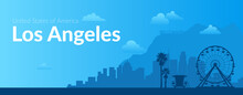 Los Angeles, USA Famous City Scape Background.