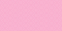 Abstract Background Pattern With Floral Ornaments On A Pink Background, Wallpaper. Seamless Pattern, Texture For Your Design. Vector Graphics