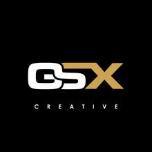 GSX Letter Initial Logo Design Template Vector Illustration