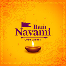 Ram Navami Festival Yellow Card Design