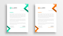 Simple Business Letterhead Template Design