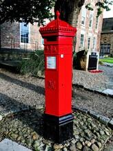English Post Box In Durham