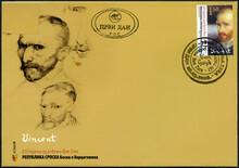 REPUBLIKA SRPSKA - 2008: Shows Vincent Willem Van Gogh (1853-1890), The 155th Anniversary Of The Birth, 2008