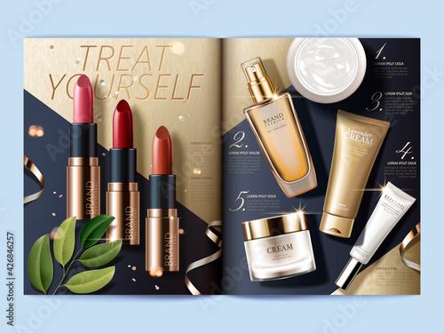 Obraz Cosmetic magazine template - fototapety do salonu
