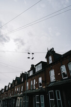 Shoes On Telephone Wire In Hyde Park Leeds