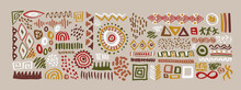 African Art Shape Collection Ethinc Symbol Isolated