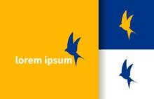 Swallow Bird Travel Agency Aircraft Logo Company, Logo Vector Template Design. Ready To Use, Easy For Edit.