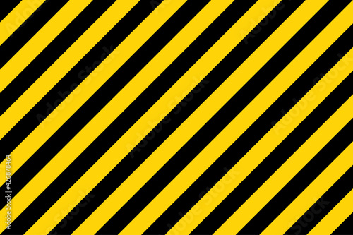 Black and yellow diagonal line striped Fotobehang