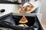 Food Waste. Throw Away Pizza