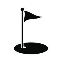 Golf Icon Vector Illustration Isolated