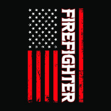 American Flag With Firefighter Template - Firefighter Vector T Shirt Design