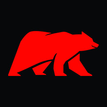 Red Bear Stock Market Day Trader T Shirt Design. Short Seller Hoodie Vector File To Print On Garment. Download It Now.