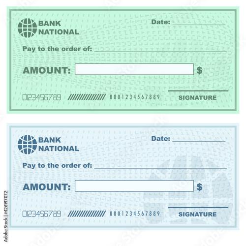 Obraz Template blank check concept vector editable finance - fototapety do salonu