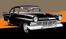 Classic American Car Two Doors Sedan
