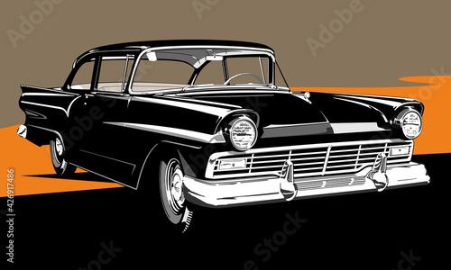 Photo Classic American car two doors sedan