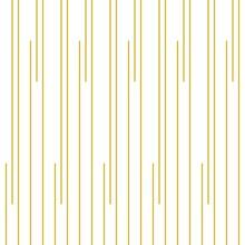 Geometric Of Vertical Stripe Pattern. Design Regular Lines Gold On White Background. Design Print For Illustration, Texture, Wallpaper, Background.