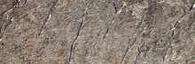Rock Texture. Snow And Cracks On The Surface Of The Cliff. Natural Stone Background.
