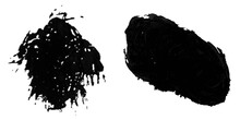 Spray Or Ink Black With Stain Or Splash Black And Dripping Paint. Liquid Watercolor Splatter. Concept Calligraphy Of Scatter Line Dot Brush Spatter And  Dripping Grunge Blot. Clipping Path.soft Focu