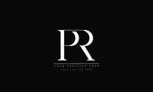 Alphabet Letters Initials Monogram PR RP P R