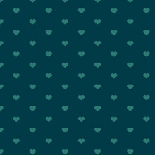 Pattern Of Green Hearts