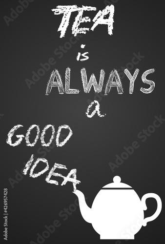 Obraz plakat herbata - fototapety do salonu
