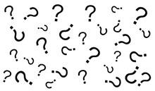 Black Question Mark Pattern