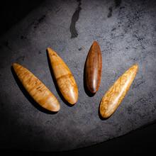 Ebony Wood Leather Edge Burnisher Tool For Burnishing Leather Projects