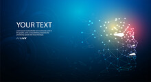 Ai Or Artificial Intelligence. Technology Web Background. Virtual Concept