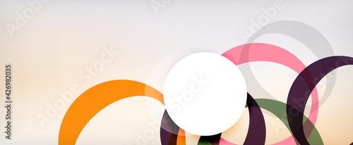 Fotografija Ring geometric shapes, o letter repetition wallpaper
