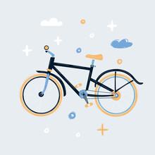 Illustration Of Hardtail Mountain Bike