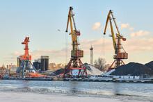 Harbor Cranes, Container Ship Terminal, Cargo Container Yard
