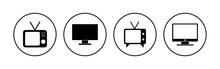 Tv Icon Set. Television Icon Vector