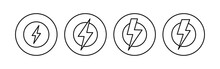 Power Icon Set. Power Switch Icon. Electric Power