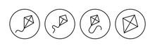 Kite Icon Set. Kite Vector Icon.