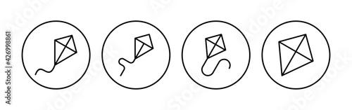 Foto Kite icon set. kite vector icon.
