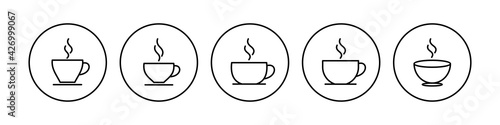 Leinwand Poster Coffee cup icon set. cup a coffee icon vector.
