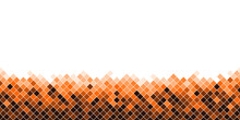 Bannière De Mosaïque Bas Petits Carrés Ton De Orange