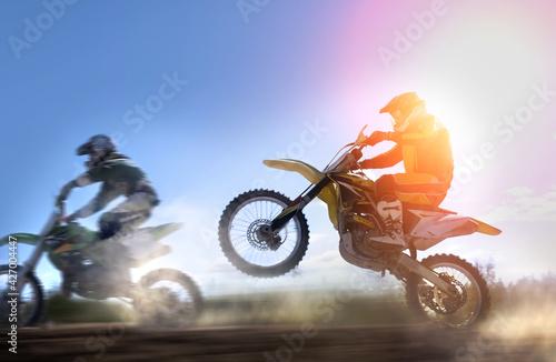 Fototapeta motocross rider