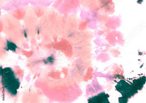 Fotografia Girly Tie Dye Texture. Urban Ikat Paint. Circular