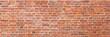 Leinwandbild Motiv Red brick wall panoramic texture background