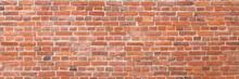 Red Brick Wall Panoramic Texture Background
