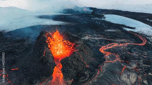 Stampa su Tela Iceland Volcanic eruption 2021