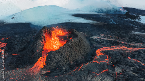 Fotografia Iceland Volcanic eruption 2021