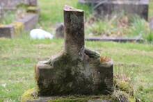 Broken Old Headstone