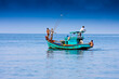 canvas print picture - Fishingboat,Phu Quoc island,Vietnam,asia