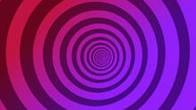 Psychedelic Twisting Circles. Round Striped Color Lines.