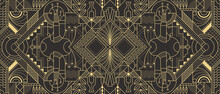 Abstract Art Deco Geometric Background